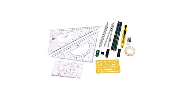 Mapper Desenho Mecânico Instruments Compass Plotter Set 16 em 1 ...