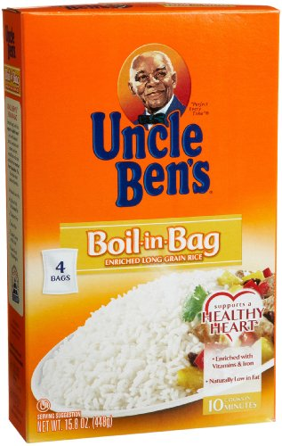 Uncle Ben's Boil-in-Bag Rice, 15.8-Ounce Boxes (Pack of 6)