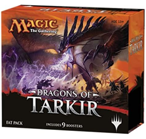 Magic The Gathering MTG de DTK de FP de en – Dragons of tarkir Fat Pack, English: Amazon.es: Juguetes y juegos