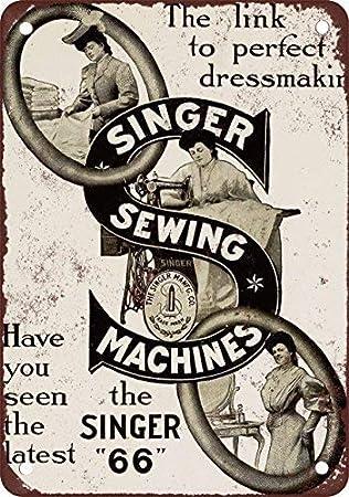 NGFD 1910 Singer máquinas de Coser, diseño clásico de reproducción Tin Sign – Placa de