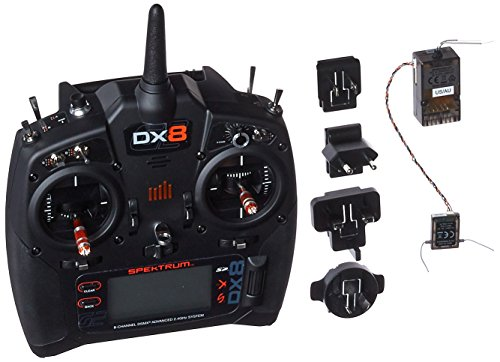 Spektrum DX8 Transmitter with AR8010T Receiver: 8-Channel 2.4GHz DSMX Air RC Radio (Gen 2 Mode 2) with AR8010T Telemetry Rx, SPM8015 from Spektrum