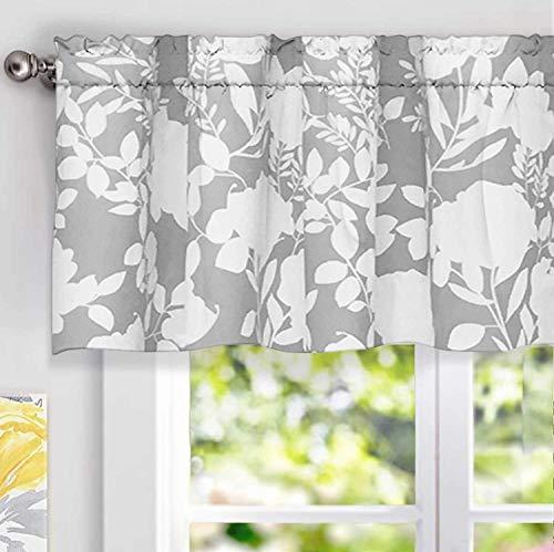 Valance Curtain Patterns - DriftAway Floral Delight Botanic Pattern Window Curtain Valance,52