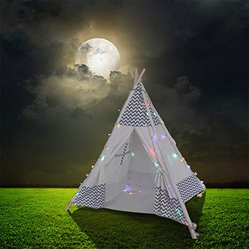 MammyGol Teepee Tent Lights 6 Ft Long, Surper Bright Colorful LED Fits Most Kids/Dogs Playhouses,Safety without Overheat by MammyGol (Image #2)