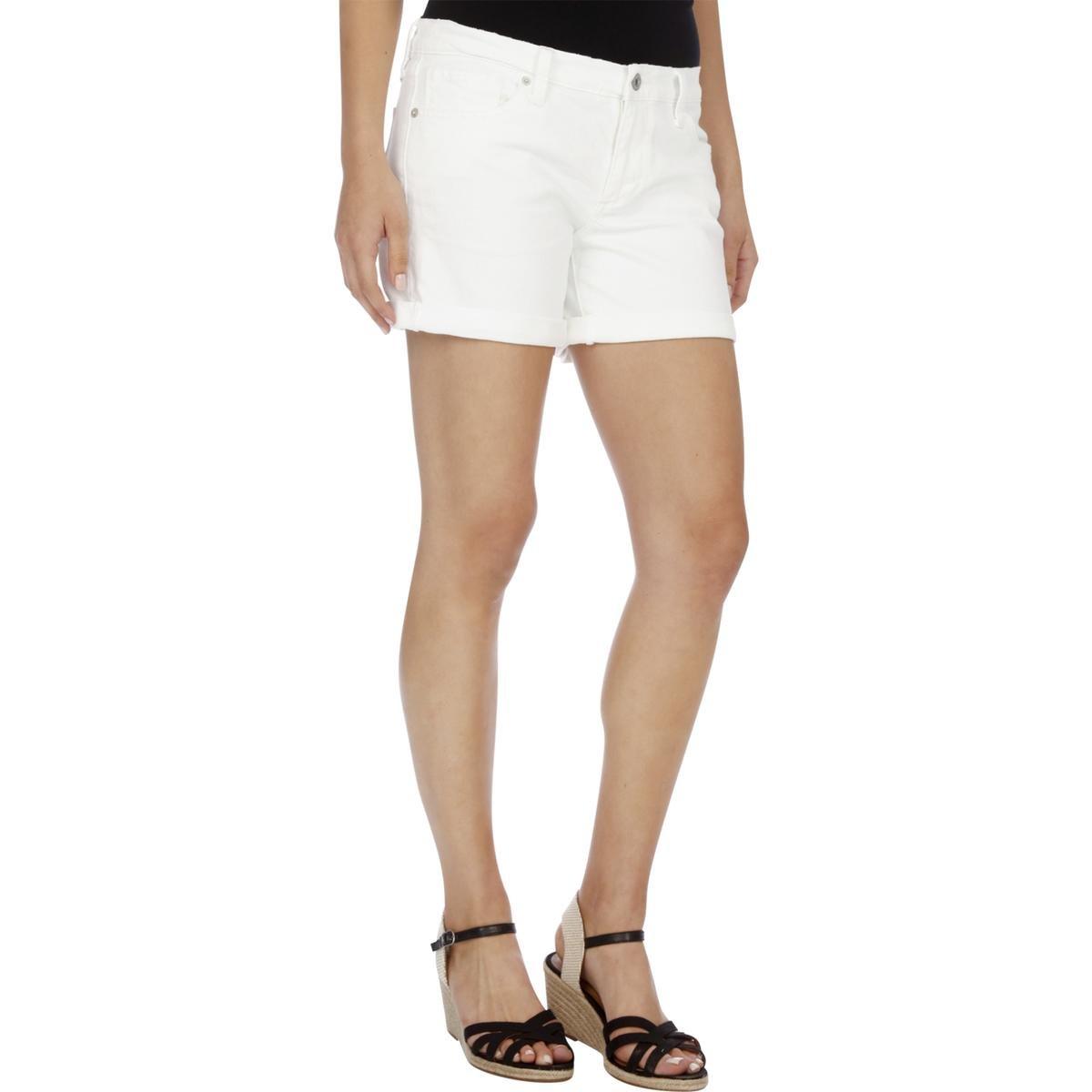 Lucky Brand Women's Denim Rollup Short, White, 32