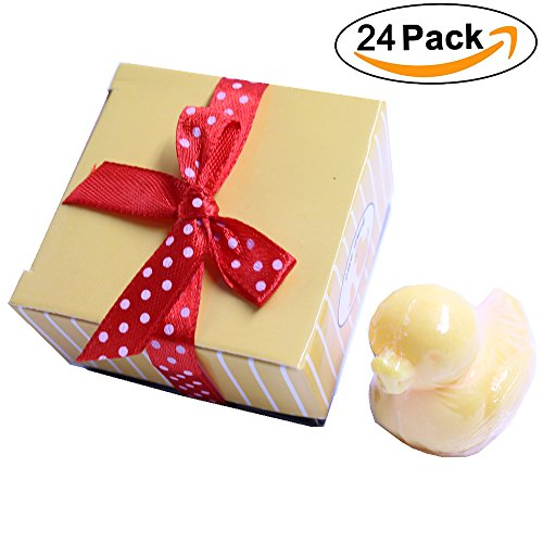 Aistore Cute Mini 24 Pieces Cute Christmas Duck Style Handmade Scented Soap Guests Keepsake Gift for Wedding Gift Baby Shower Favors, Parties, Thanksg…