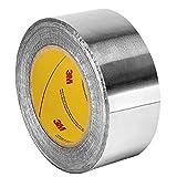 3M 96021-case Aluminum Foil Tape 2C120 Natural Aluminum, 99 mm x 45.7 m 1.8 mil, 12 per case (Pack of 12)