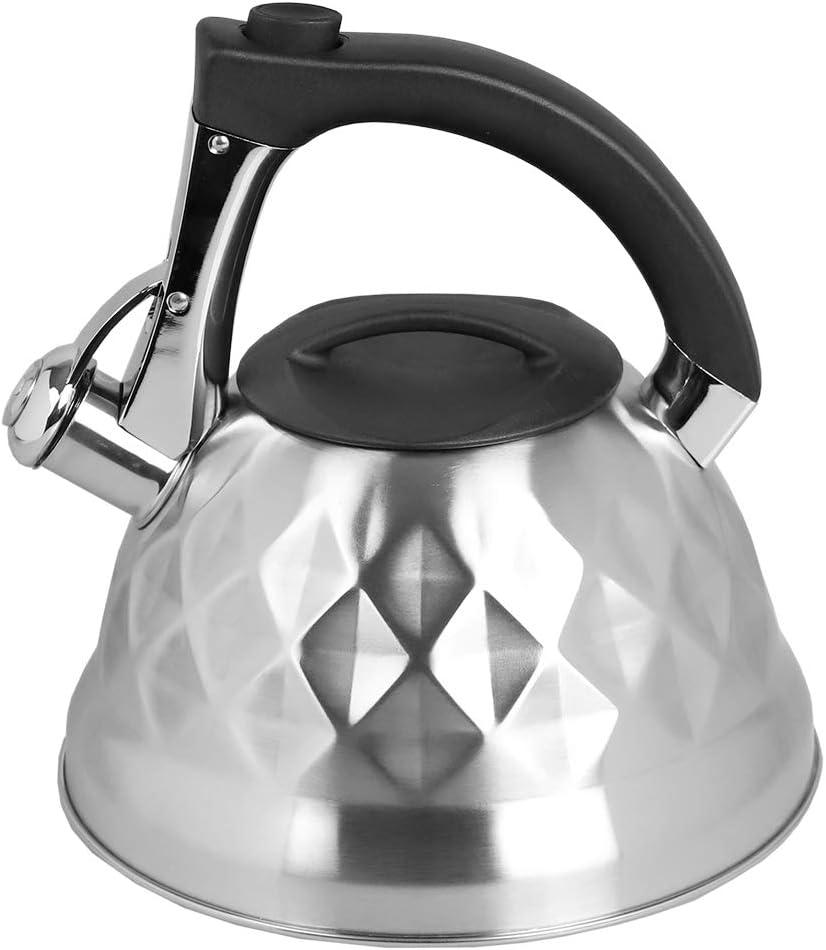 Home Basics TK37632 Tea Kettle, 2.7 Liter, Nova 2.7 Lt. Zinc