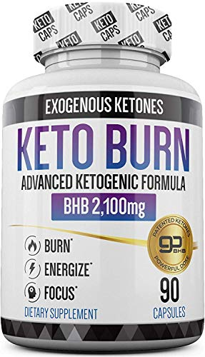 Keto Pills - 3X Dose (2100mg | 90 Capsules) Advanced Keto Burn Diet Pills - Best Exogenous Ketones BHB Supplement - Max Strength Formula (Best Pills To Lose Weight 2019)
