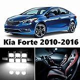 10pcs LED Premium Xenon White Light Interior Package Deal for Kia Forte 2010-2016