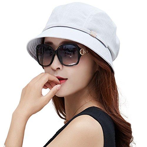 Siggi Bucket Boonie Cord Brim Cap Fishing Hiking Sun Hats for Women UPF50+ Packable Gray