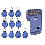 Akozon 125KHz Handheld RFID Writer/Copier/Reader/Duplicator + 10PCS ID Tags
