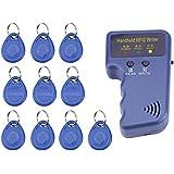 Walfront RFID Writer,125KHz Handheld RFID Writer/Copier/Reader/Duplicator With 10PCS ID Tags