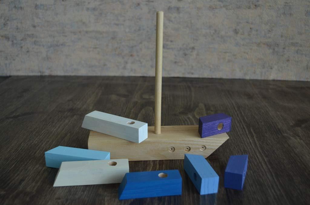 Wooden boat//Montessori Baby//First Birthday Gift//Eco toys//Natural Wooden//Toys//Birthday gift for kids//Natural wooden toy//Montessori toys//Toys