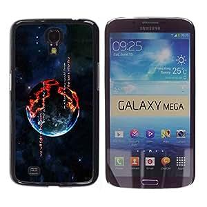 Design for Girls Plastic Cover Case FOR Samsung Galaxy Mega 6.3 Burning Planet OBBA