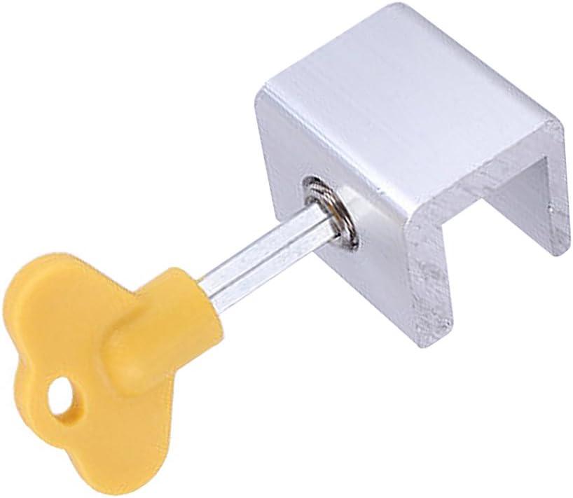 8 piezas aleaci/ón la puerta corredera Pernos la ventana bloqueo Catch Push Lock Inicio Patio seguridad