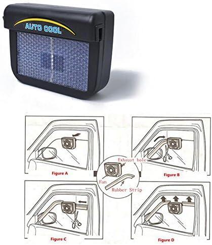 Aoile Ventilador de Escape para Coche, energía Solar, Ventilador ...