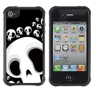"Hypernova Defender Series TPU protection Cas Case Coque pour Apple iPhone 4 / iPhone 4S [Divertido cráneo Lol Cara""]"