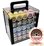 MRC 1000pcs High Roller Laser Poker Chips Set with Acrylic Case Custom Build