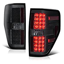 VIPMotoZ 2009-2014 Ford F-150 F150 Off-Road Smoke Lens LED Taillights Taillamps, Driver and Passenger Side