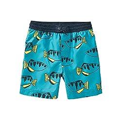 Tea Collection Drawstring Swim Trunks, Boys, Neon Dories