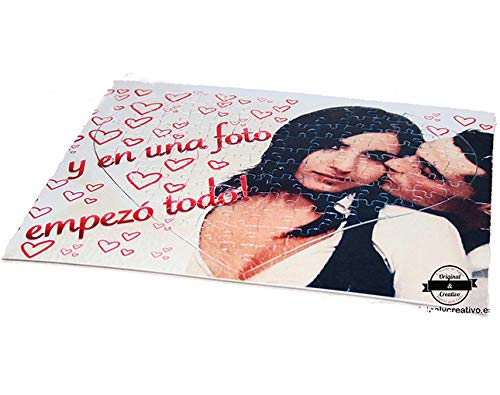 OyC Puzzle Corazon Personalizado con Foto, Imagen, Texto, Retrato, fotografia, Regalo, Parejas, Bonito 6