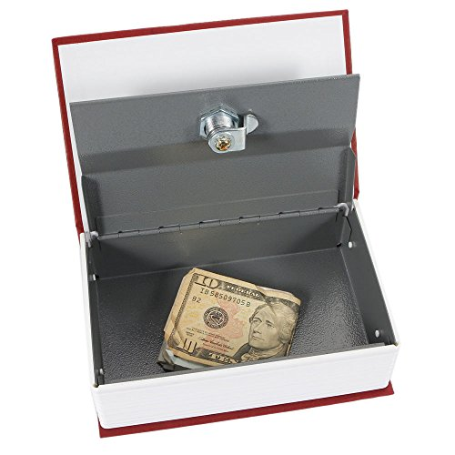 Marketworldcup - Hot Dictionary Book Cash Money Jewelry Safe Storage Box Security Key Lock Red