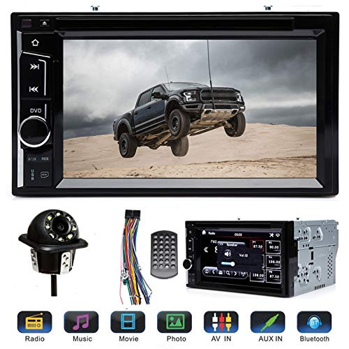 Double 2 Din Car Stereo with Rear View Parking Camera 6.2