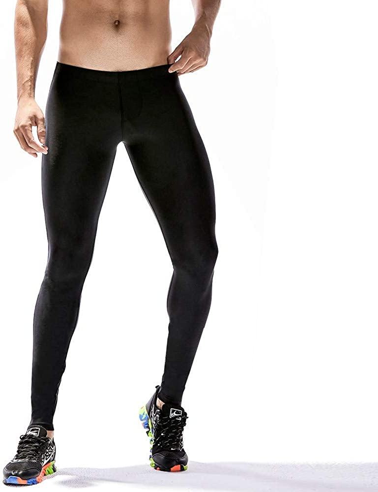 Dolwins Mens Compression Pants Baselayer Cool Dry Sports Tights Leggings Black Cycling