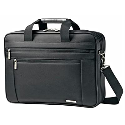 15.6 Black Two Gusset Briefcase