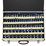Neiko 10115A Premium Tungsten Carbide Router Bits | 80-Piece Set | Aluminum Storage Case