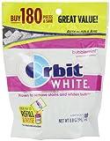 Orbit White Bubblemint Sugarfree Gum, 180 piece refill bag