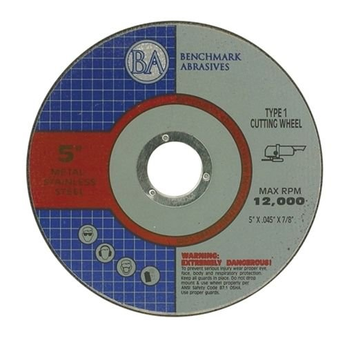 5''x.045''x7/8'' Pro Metal & Stainless Steel Cutting Cutoff Wheel - 25 Pack by Benchmark Abrasives