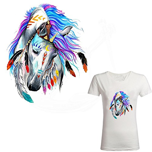 ARTEM Unicorn Iron on Patches Fairy Tale Style Beautiful Horse DIY T-Shirt Jacket Grade-A Thermal Transfer Stickers 9.8X7.9inch