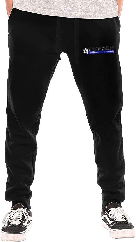 Amazon Com Xmy Pantalones De Sudadera Para Hombre Diseno De La Bandera De Suecia Negro Xxl Home Kitchen