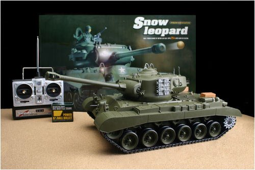 - Airsoft RC Snow Leopard Battle Tank, Smoke