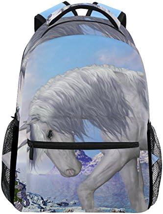 COOSUN Einhorn und Blue Bell zufällige Rucksack Schultasche Reise Daypack Einhorn und Blue Bell
