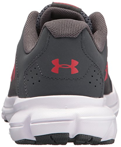 Under Armour Kids' Grade School Rave 2 Sneaker,Stealth Gray (100)/White,3.5 M US by Under Armour (Image #2)
