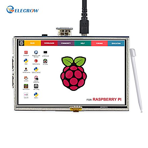 Elecrow HDMI Display Monitor 5 Inch HD 800x480 TFT LCD Display for Raspberry Pi 2B B+ Raspberry Pi 3B with Touch Screen (Tft Lcd Display)