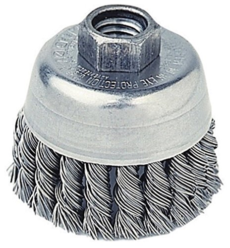 oz Radnor RAD64000356 2 3//4 x 5//8-11 Stainless Steel Knot Wire Cup Brush for Use On Small Angle Grinders Plastic English 15.34 fl 1 x 1 x 1