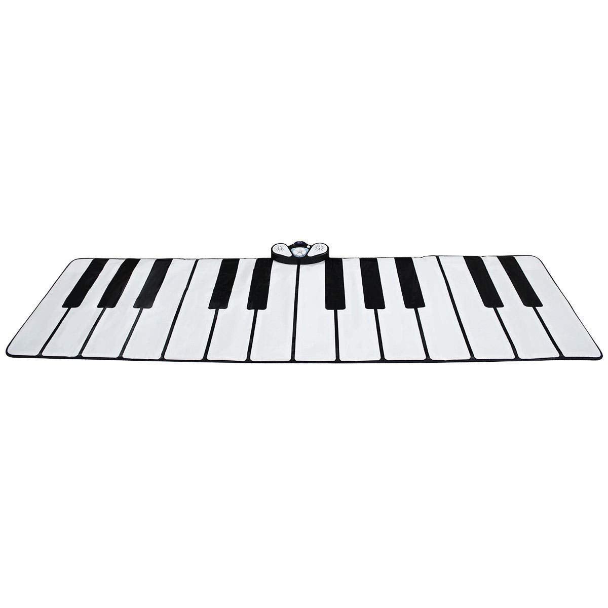 USA_Best_Seller 24 Key Gigantic Piano Keyboard with 9 Instrument Settings Music Portable Lightweight Kids Children Game Toy Dance Sing Play Creative White Black by USA_Best_Seller