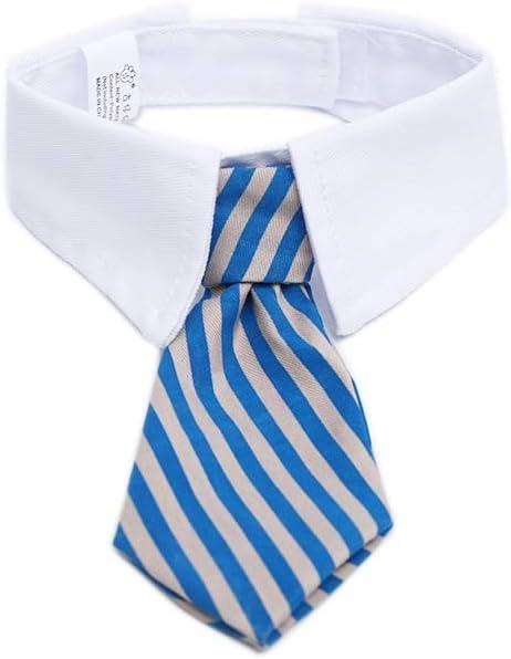 Rrunzfon Mascota Corbata Collar Ajustable a Rayas Mascota Twill ...