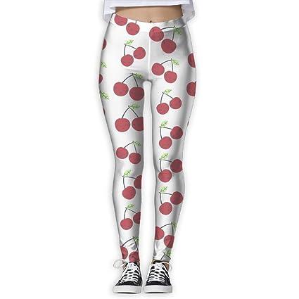 af0b4bcf486e2 Amazon.com : ZGXJJPP Women's Colorful & Fun Cherry Printed Fashion ...