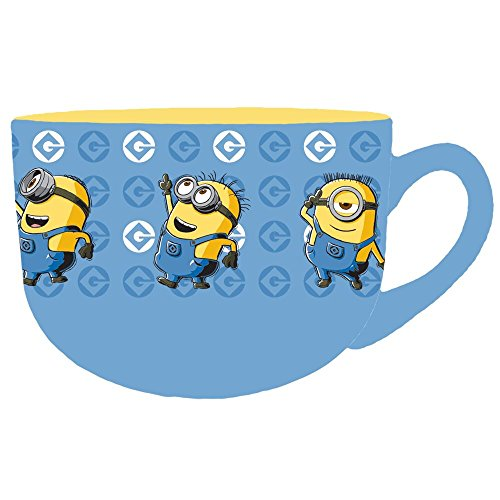 Silver Buffalo DM113233 Universal Minions Conga Line Ceramic Soup Mug, 24 oz, Multicolor (Ceramic Mug Soup)