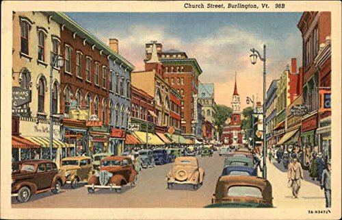Church Street Burlington, Vermont Original Vintage - Burlington Church Street Vermont