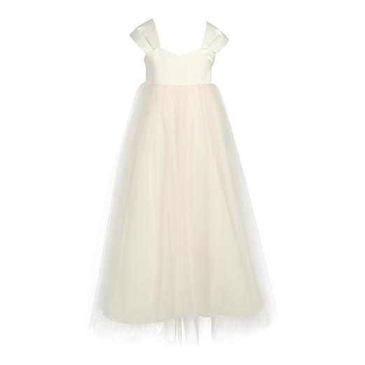Amazon.com: YiZYiF Little Girls High-Waisted Wedding Long Junior ...