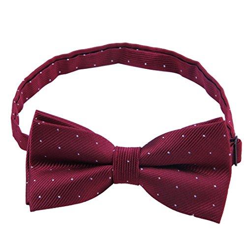 Boxed Length Adjustable Stylish JINIU Men Tuxedo Formal Designer Ties Bow Winered Solid IqXwqv
