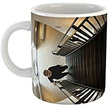 Westlake Art - Heaven Stairway - 15oz Coffee Cup Mug - Modern Picture Photography Artwork Home Office Birthday Gift - 15 Ounce