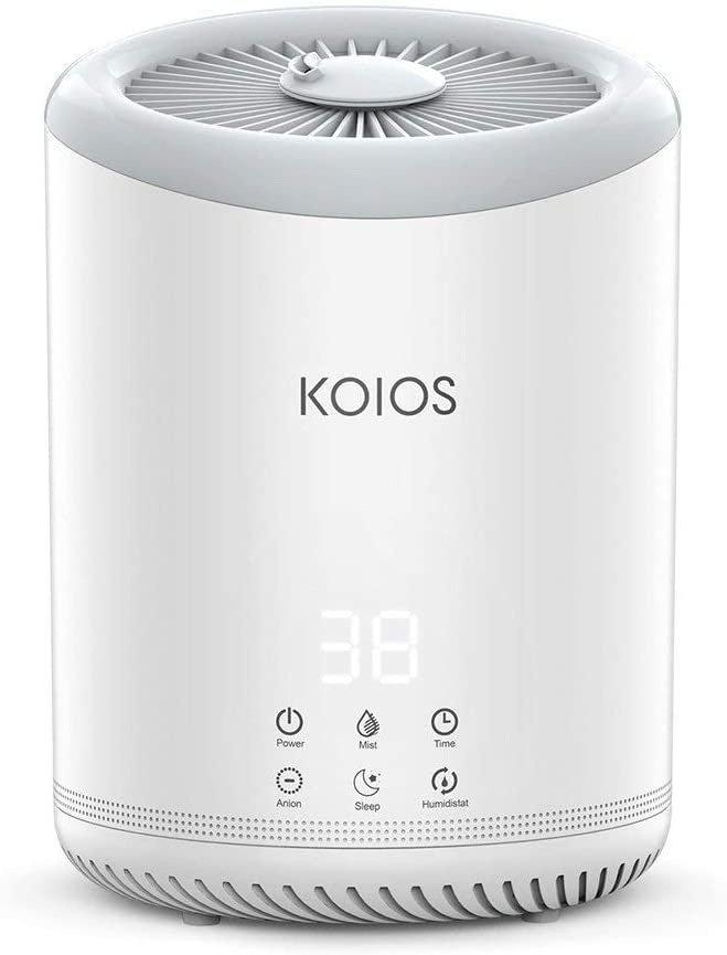 KOIOS Top Fill Air Humidifiers, 4L Ultrasonic Cool Mist Humidifier with 300ML H Mist Output, Humidistat, Sleep Mode, Auto Shut Off for for Home Baby Office