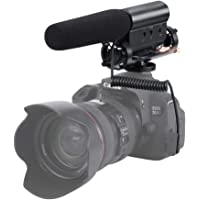 zeadio Photographie, Interviews Micro stéréo avec Pare-Brise Furry Muff pour Canon Nikon Pentax Olympus Panasonic Video Camera