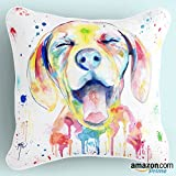Best Pillow Cases Of Dogs Arts - Lume.ly - Colorful Ditzy Puppy Dog Lover Print Review